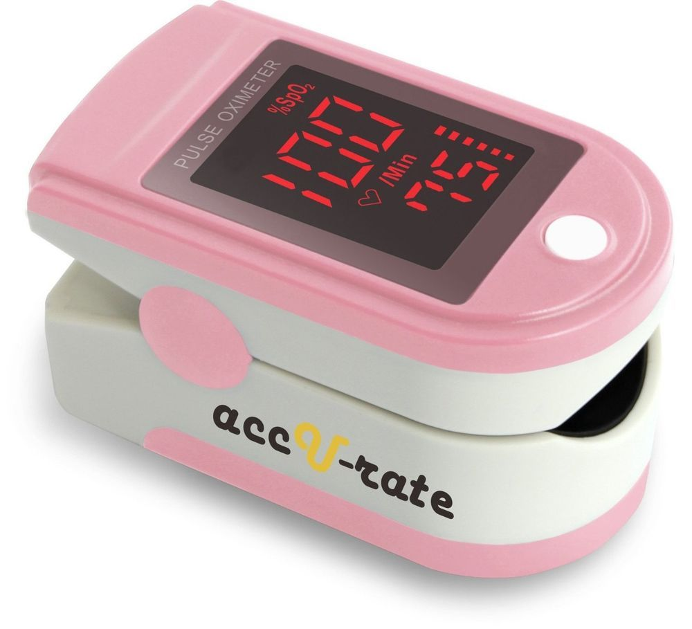 Acc U Rate Pro Series CMS 500DL Fingertip Pulse Oximeter Blood Oxygen Saturat... #AccURate