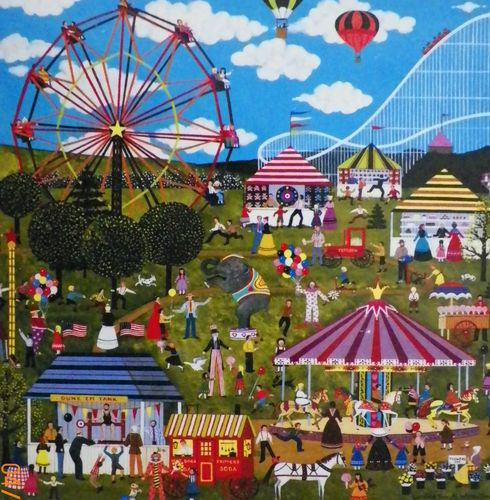 Jane Wooster Scott...Carnival Time At Willow Bend...