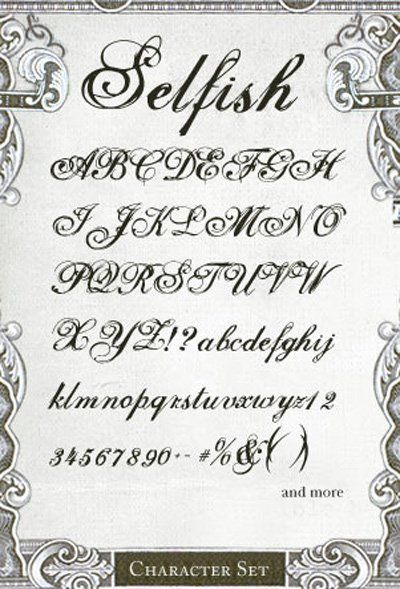 Fonts Alphabet Beautiful Script And Calligraphy Tattoo