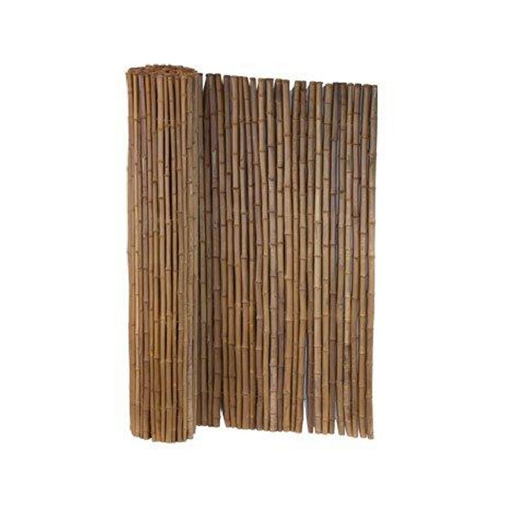 Lewis Hyman 6 Ft X 8 Ft Caramel Brown Full Round Bamboo Fence