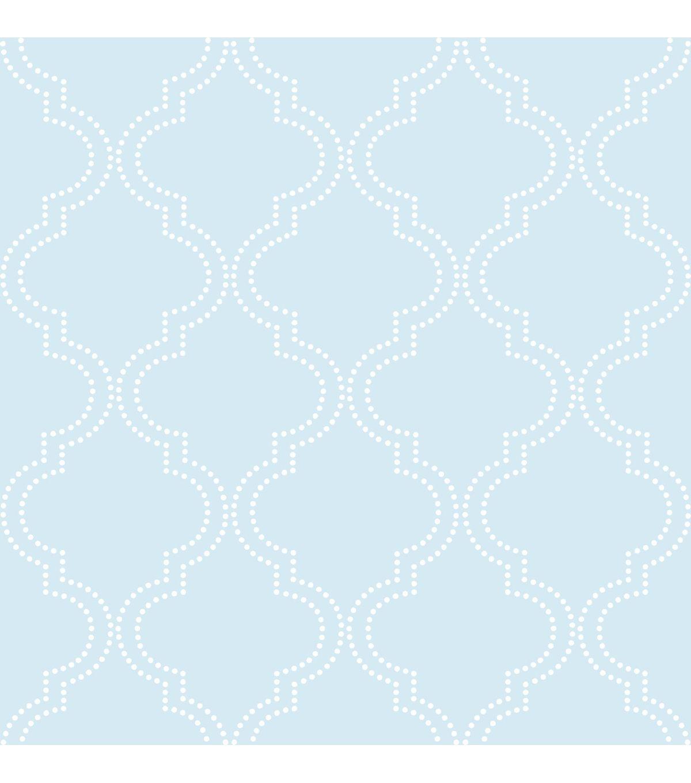 Wallpopsnuwallpaper Blue Quatrefoil Peel And Stick Wallpaper Quatrefoil Wallpaper Nuwallpaper Vinyl Wallpaper