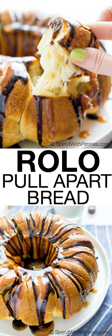 This Easy Rolo Pull Apart Bread is a delicious 2 ...