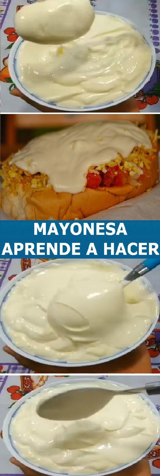 Pin De Lupita En Recetas Receta De Mayonesa Casera Recetas Fáciles De Comida Recetas Para Cocinar