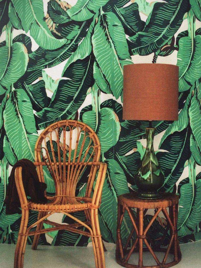 Love this Elle botanicsl wallpaper!