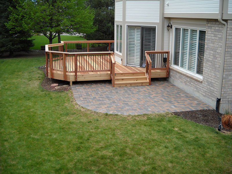 Deck U0026 Patio Combinations   DeckTec Outdoor Designs Side Deck, Back Deck, Paver  Deck