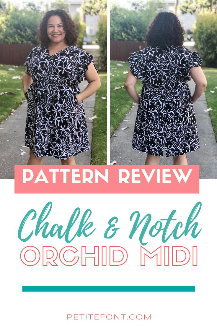 Chalk Notch Orchid Midi Dress Pattern Review Midi Dress