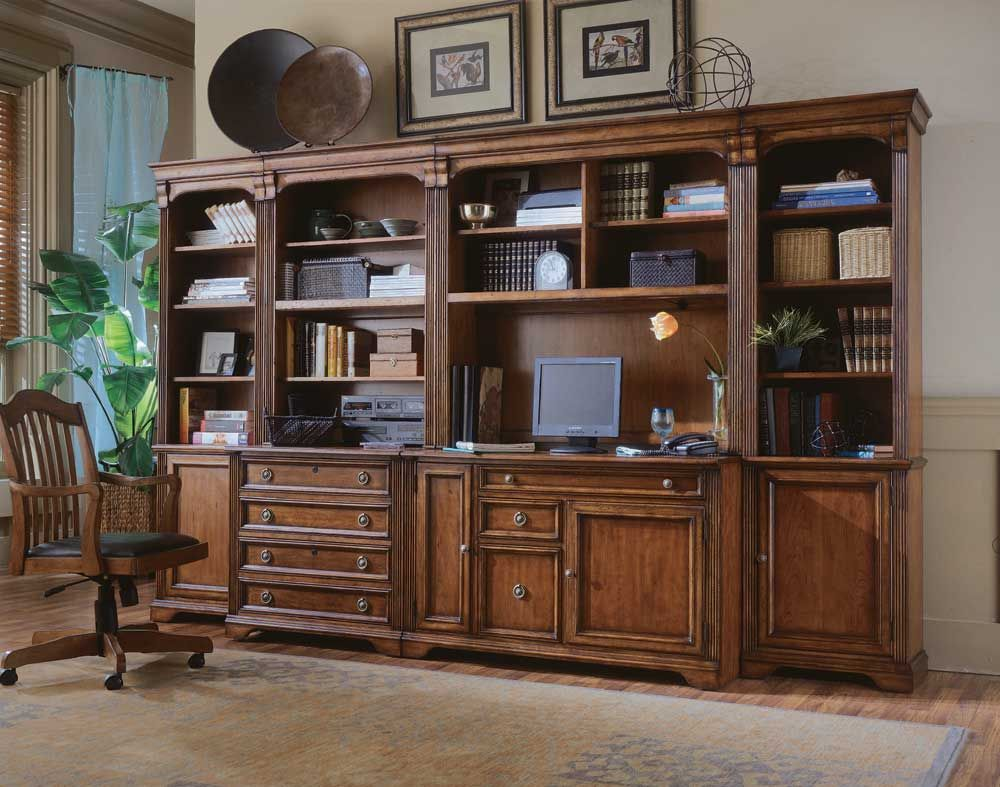 Hooker Furniture Modular Office Wall Unit Crafted From