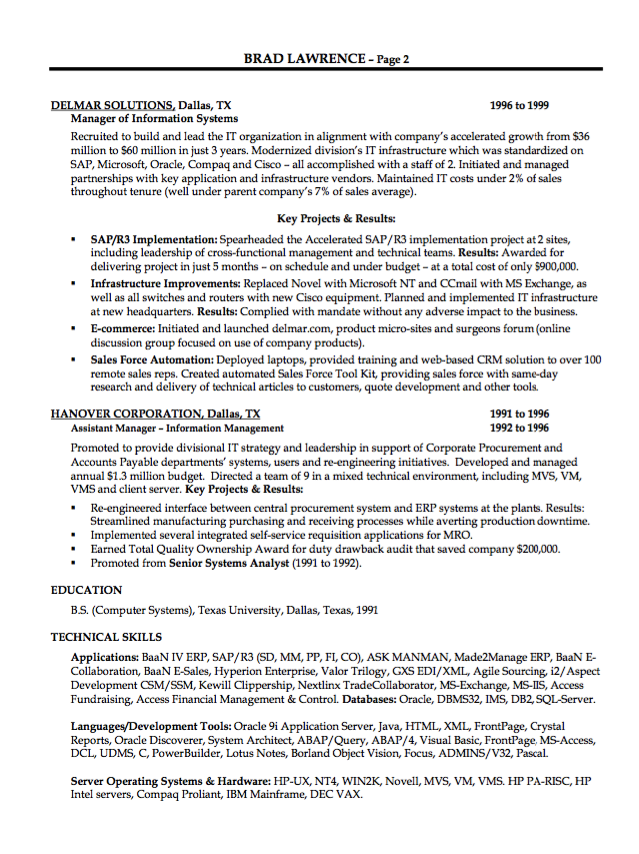 Itm Resume Sample  HttpResumesdesignComItmResumeSample