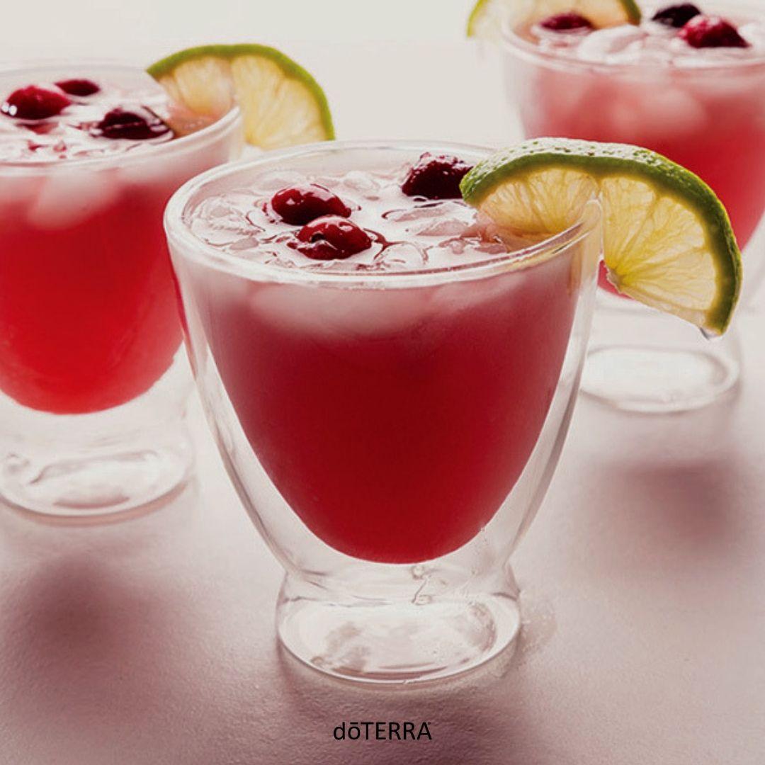 Mock Cranberry Lime Spritzer Dōterra Essential Oils Cooking With Essential Oils Spritzer Recipes Doterra Recipes