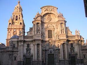 Fachada de la Catedral de Santa María de Murcia. Arquitectos: Jaime Bort y Pedro Fernández Fecha: 1739-1754