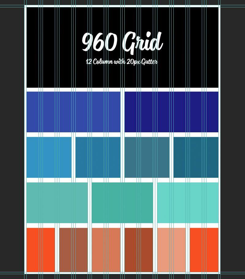 960 Grid Psd 12 Column Web Design Quotes Online Web Design Grid Web Design