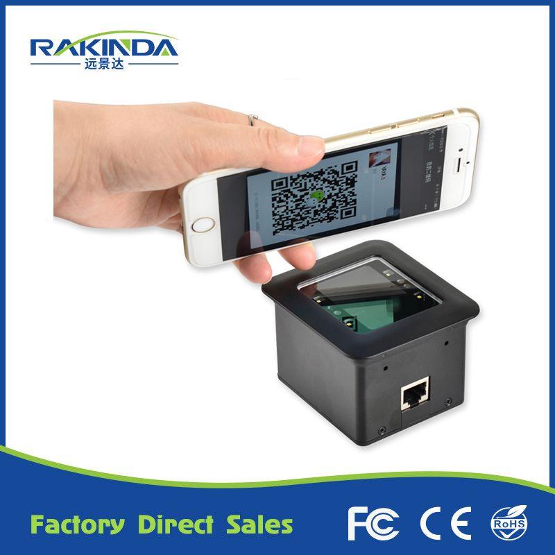 High Quality Desktop Flatbed Barcode Scanner Bar Code Reader With Rs232 Interface For Retail Store Supermarket Tunstile Usb Design Barcode Scanner Qr Code