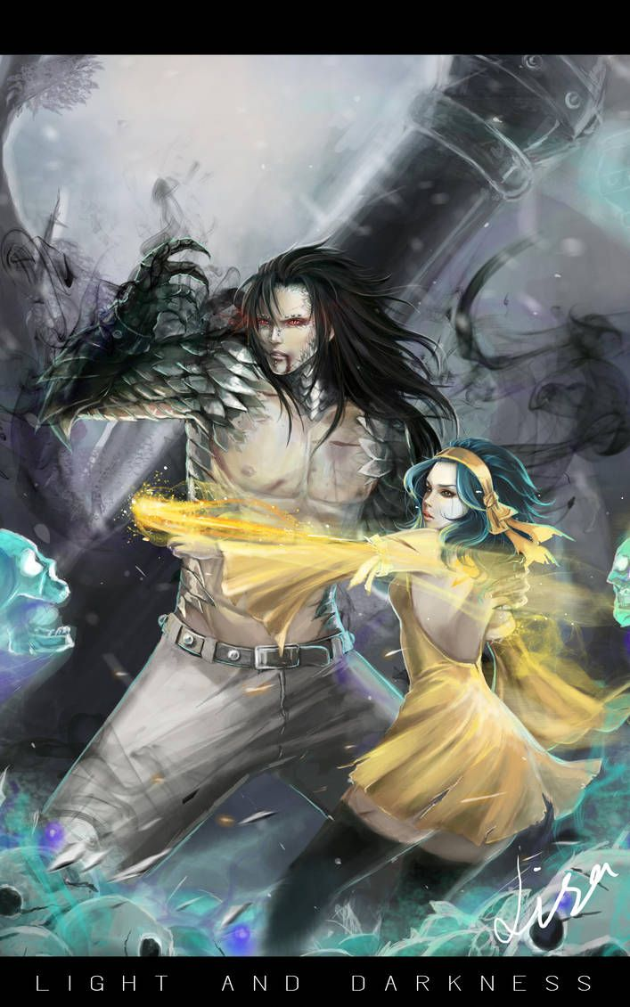 Light and Darkness - Gajeel and Levy by Warb1rd on DeviantArt