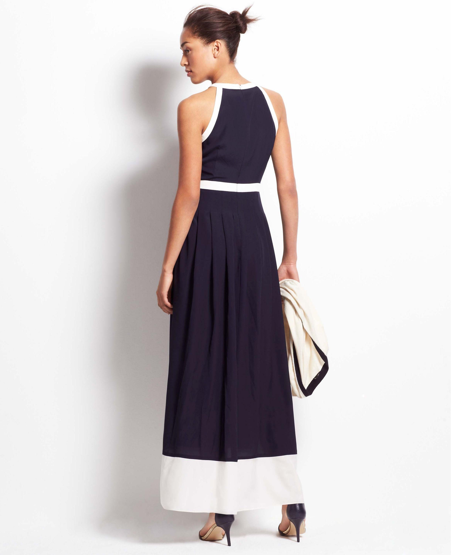 c438a1fe4a Colorblock Halter Maxi Dress   Ann Taylor   Spring Shopping   Halter ...
