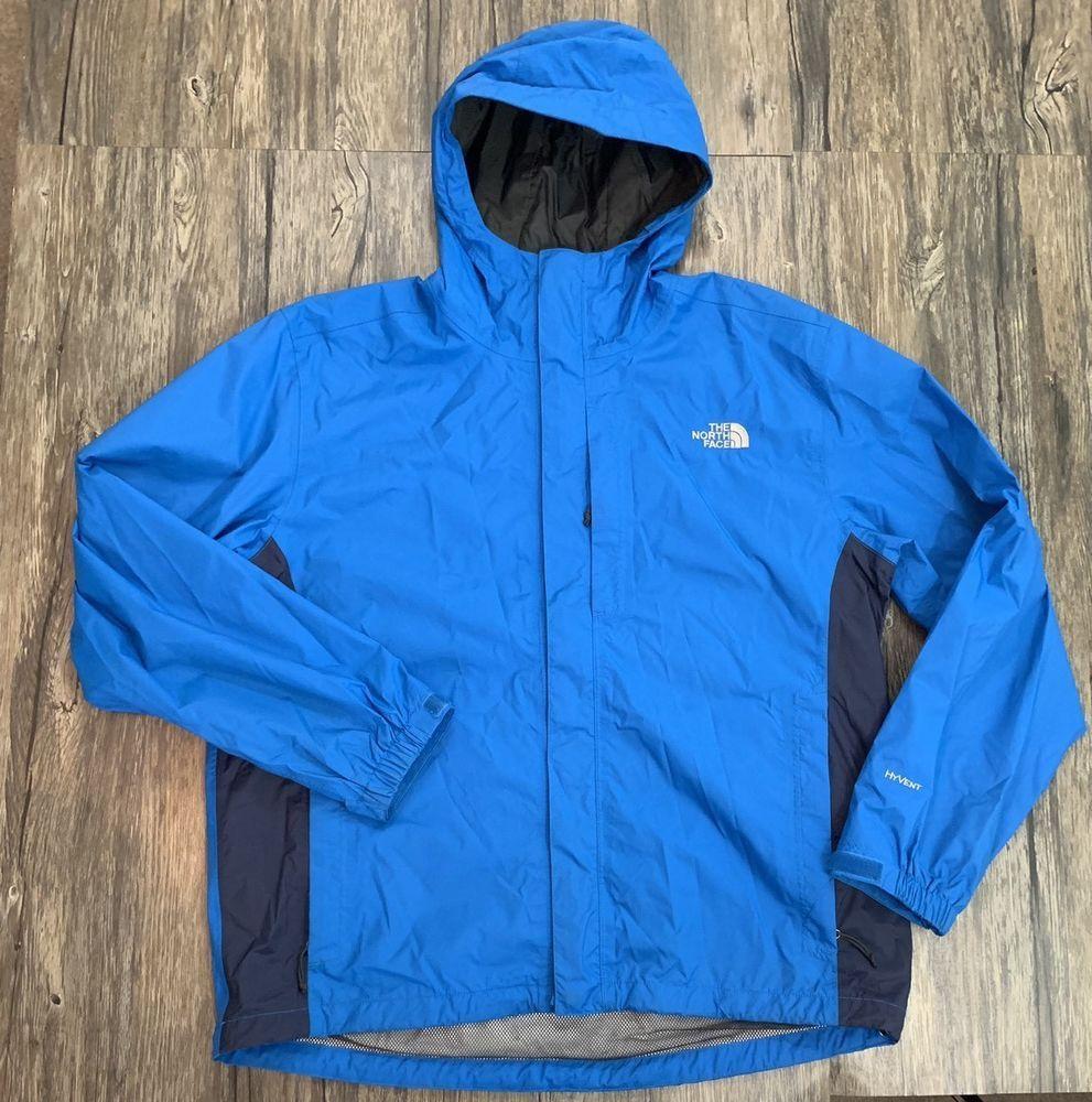 The North Face Hyvent Rain Jacket Blue Mens Sz L Mens Sportswear North Face Hyvent Jackets [ 1000 x 991 Pixel ]