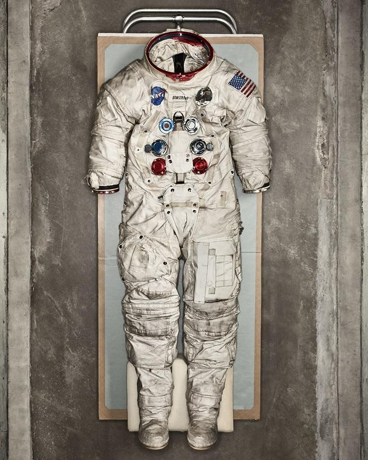 || Neil Armstrong's Spacesuit, 1969, Air & Space Museum. A wearable spacecraft let humans take one giant leap away from Earth   .