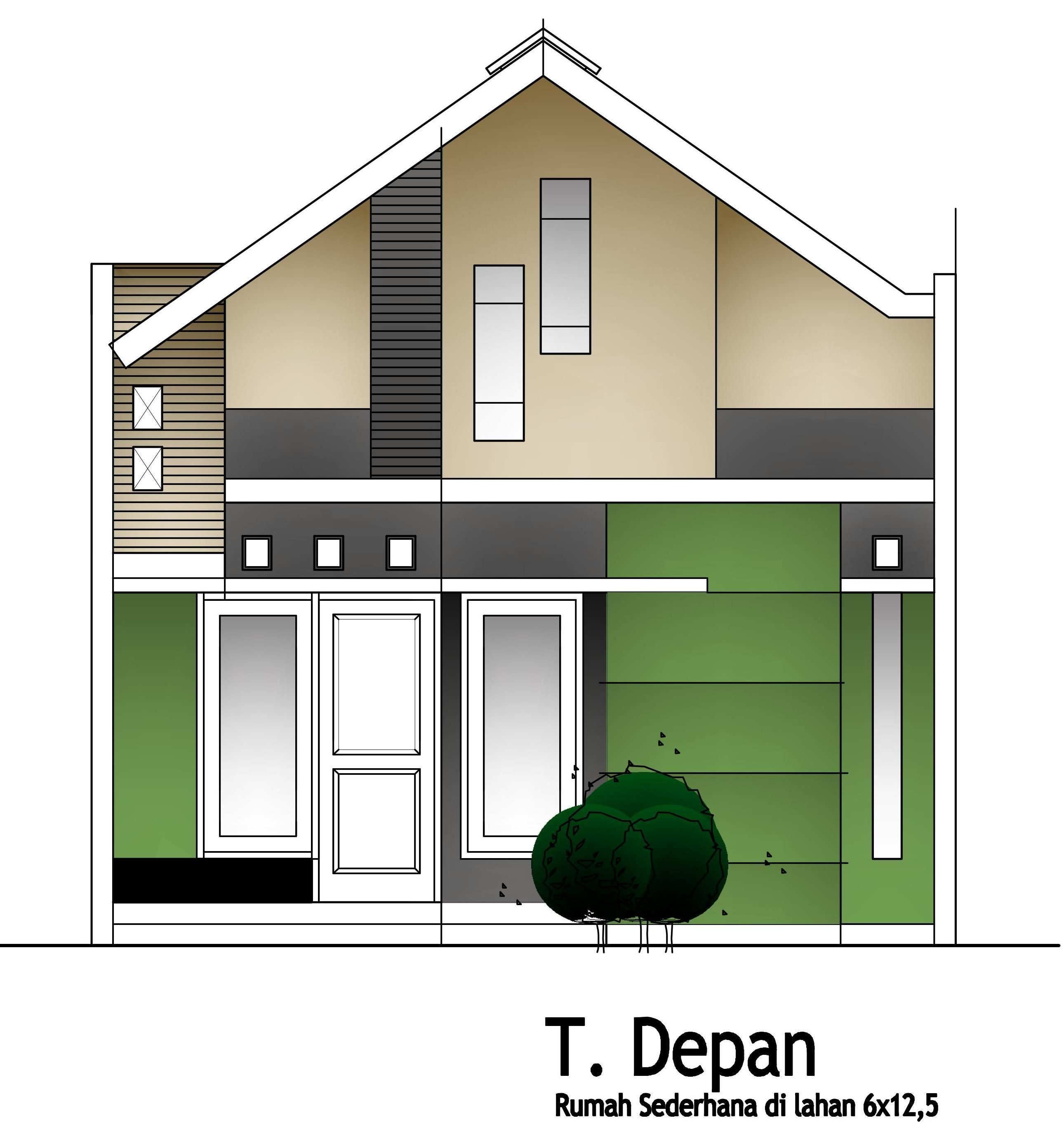 Desain Sketsa Gambar Rumah Klasik Sederhana Modern House Design Modern House House