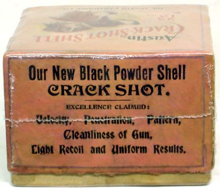 Austin Crack-Shot Shell Box 10Ga  Empty Box Rare Pink