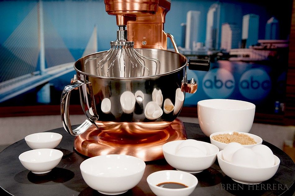 Cake Set Up With A Lovely Satin Copper KitchenAid Mixer Used For A Fatheru0027s  Day Cooking