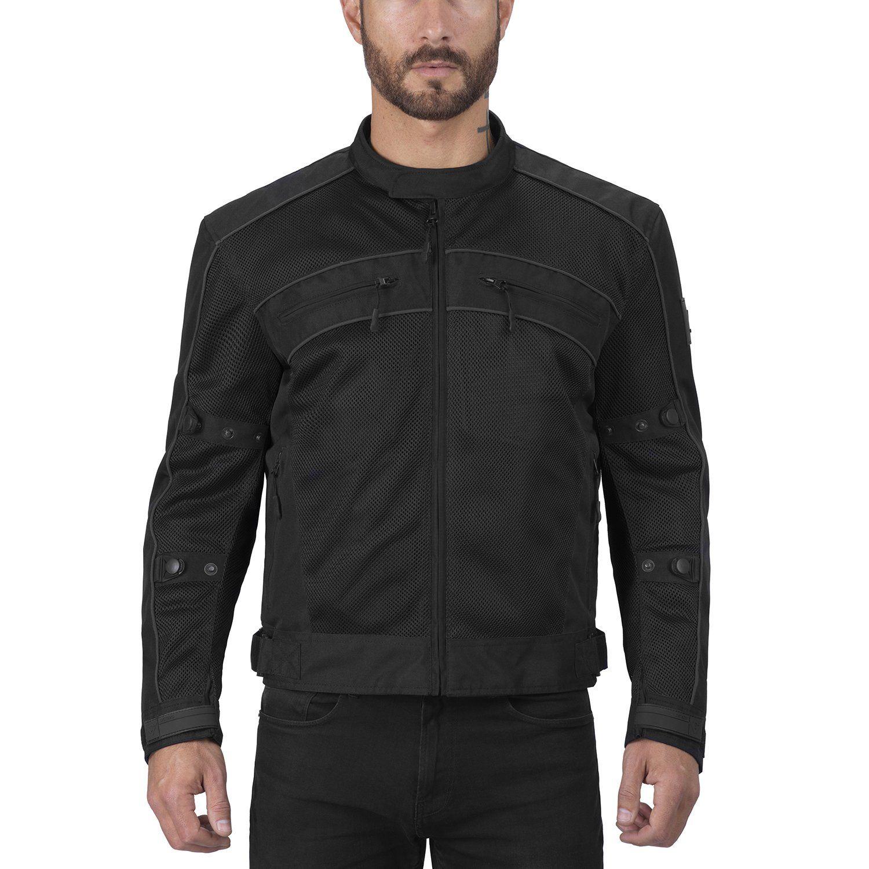 Viking Cycle Ironside Black Textile Motorcycle Jacket for