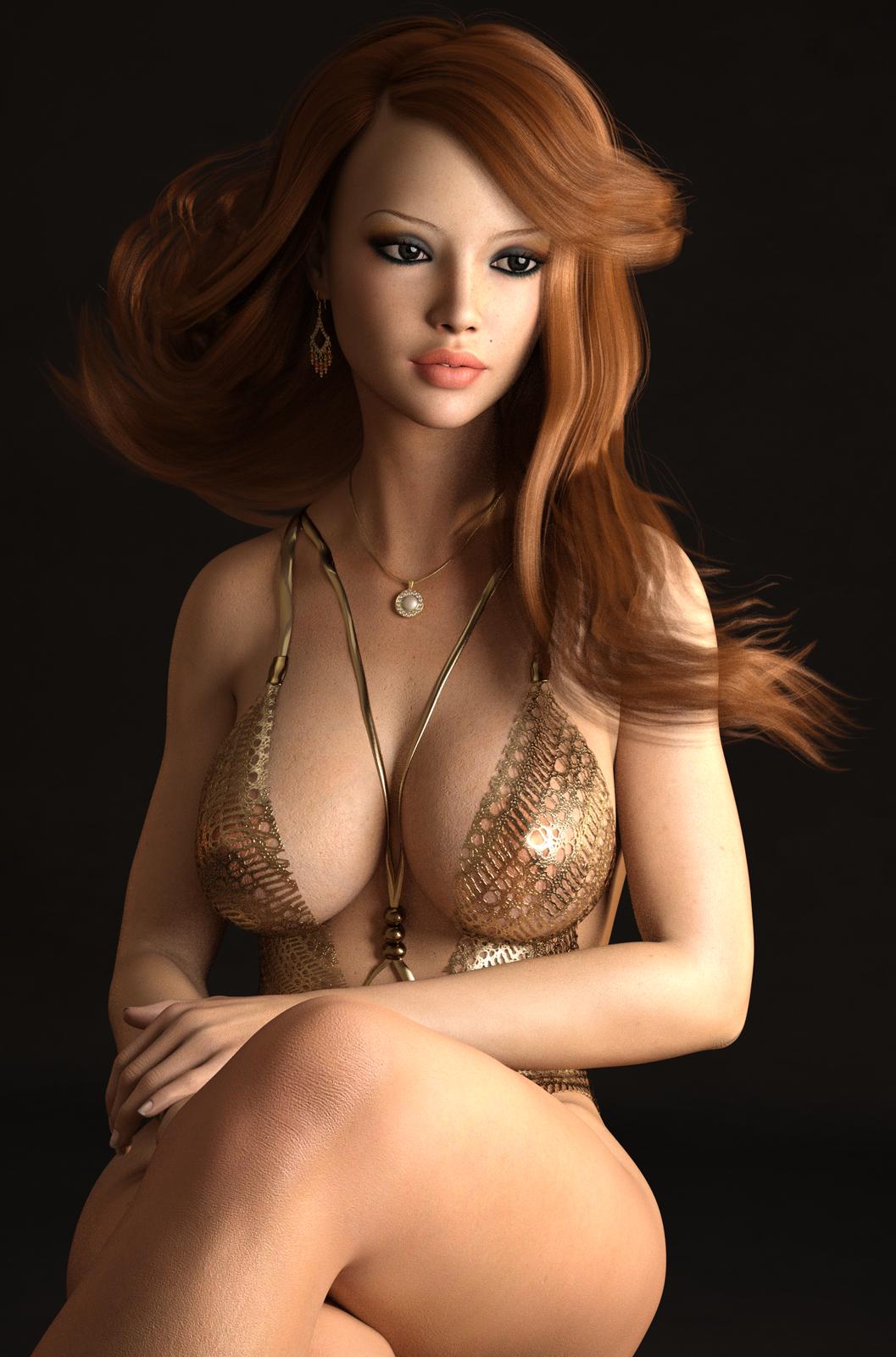 Erotic poser girl models