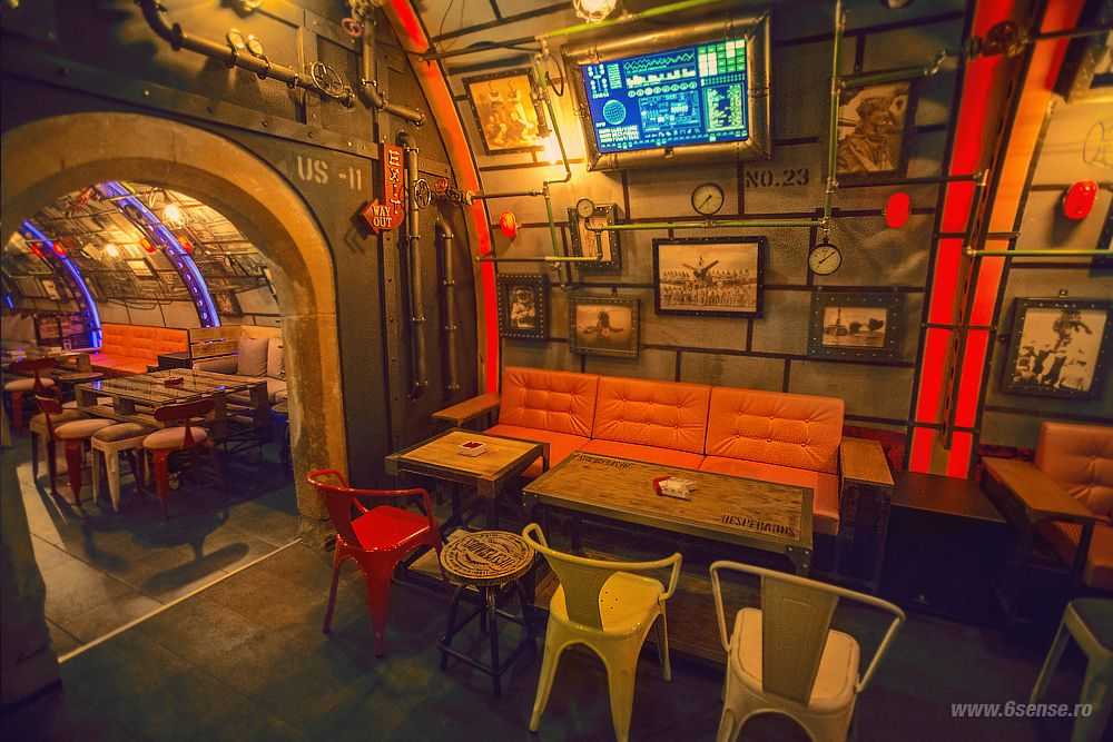 Submarine pub 6th sense interiors design interior cluj for Interieur cluj
