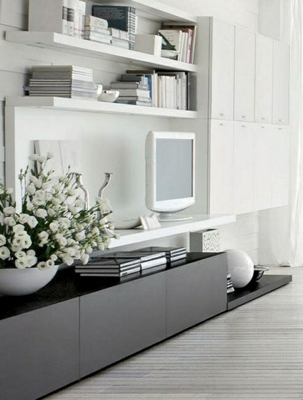 die besten 25 fernsehschrank wei ideen auf pinterest tv wand mit holz fernseher an der wand. Black Bedroom Furniture Sets. Home Design Ideas