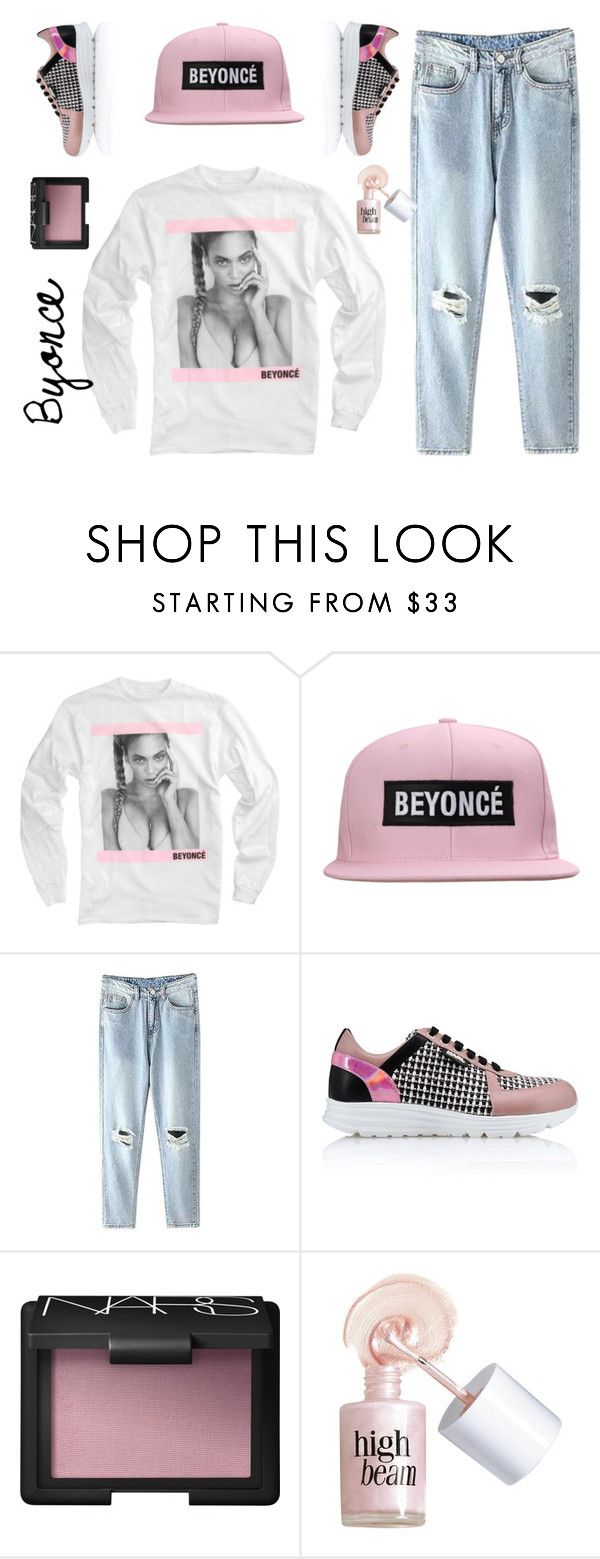 """Byonce"" by anetjuri ❤ liked on Polyvore featuring Karl Lagerfeld, NARS Cosmetics and Benefit"