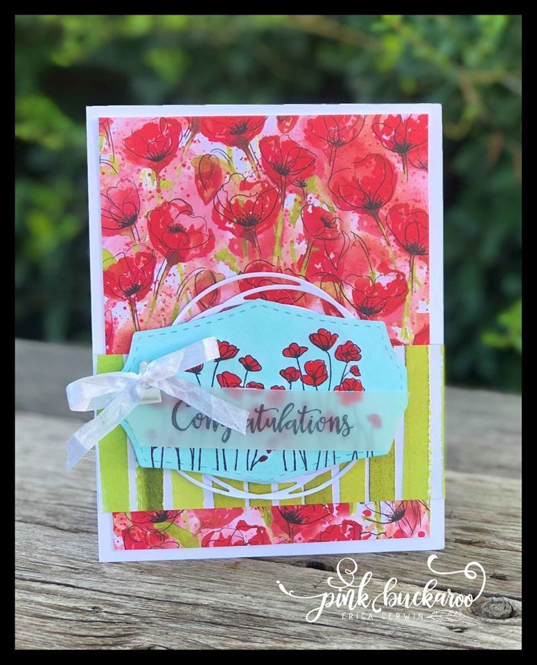 Pin By Vonnie Heffer On Stampin Up Pink Buckaroo Designs Poppy Cards Best Wishes Card