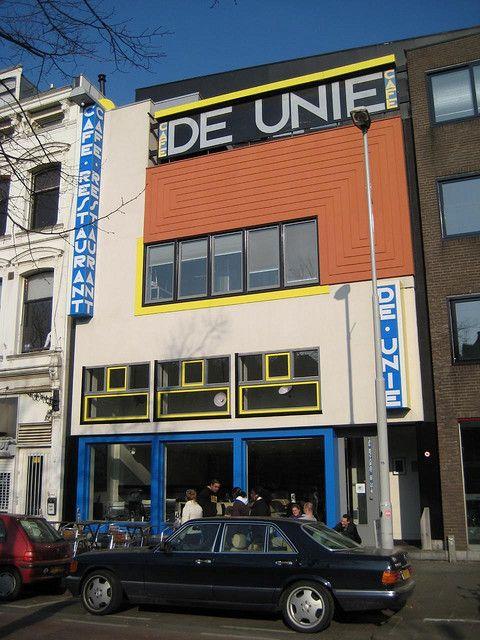 Vaak J.J.P Oud - Cafe De Unie, Rotterdam, 1925 | De Stijl - 1917 to &AF03