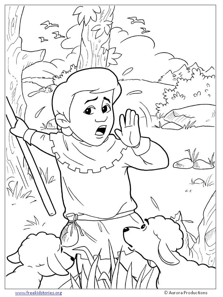 Boy Who Cried Wolf Coloring Page Wolf Colors Coloring Pages
