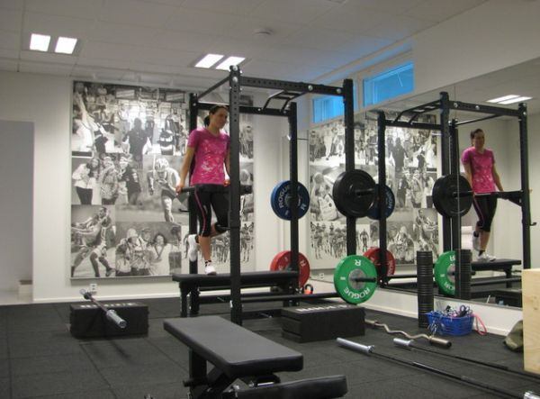 Wall Collage In The Home Gym To Keep You Motivated Home Gym Design At Home Gym Gym Room