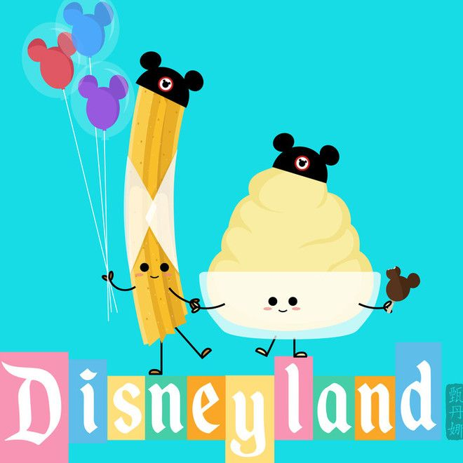Inspired by my love for Disneyland and their delicious food. This is part of my Disneyland Food Series. #disneylandfood