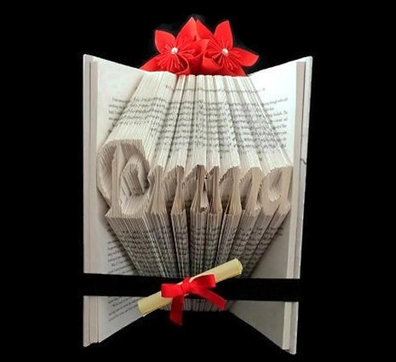 Personalised book folding pattern instructions customised