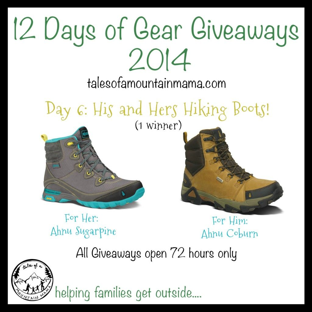 12 Days Of Gear Giveaways Day 6 His And Hers Hiking Boots Hiking Boots Boots Outdoor Gear