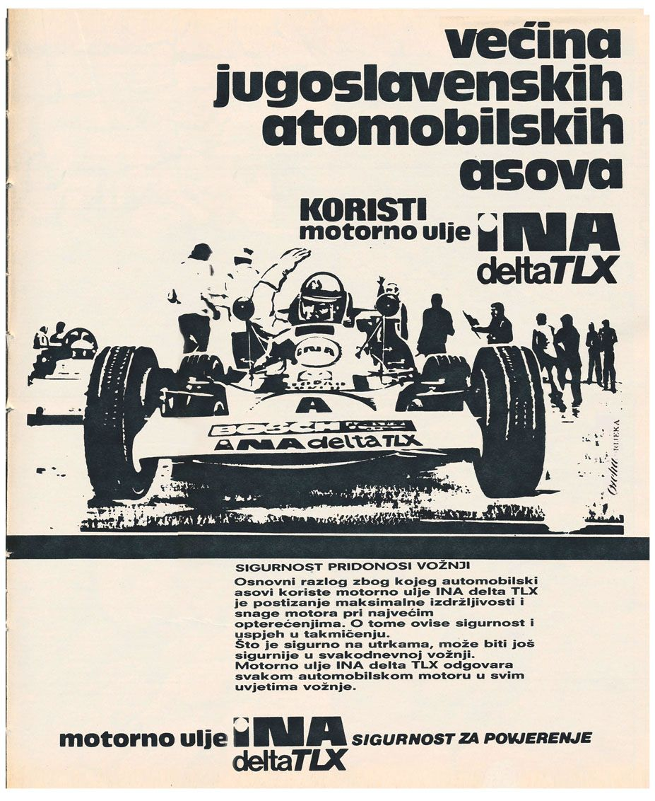 The Series Of Advertisements Designed By Ozeha For Engine Oil Ina Delta Tlx Ina Croatian Oil Indu Advertising Material Advertising Design Exhibition Design