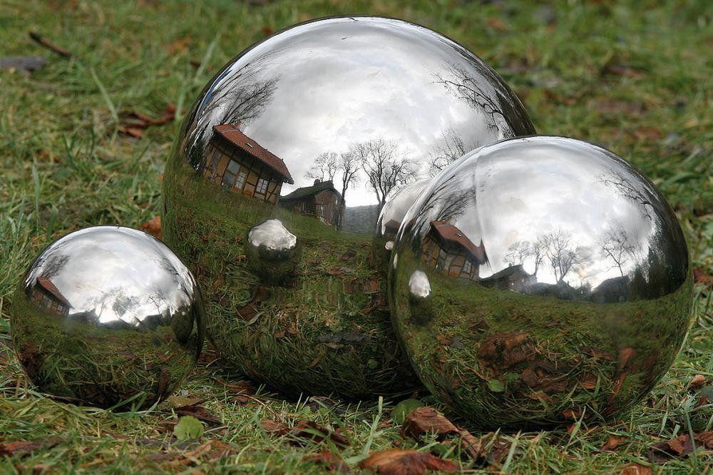 Outdoor Silver Garden Sphere   Google Search