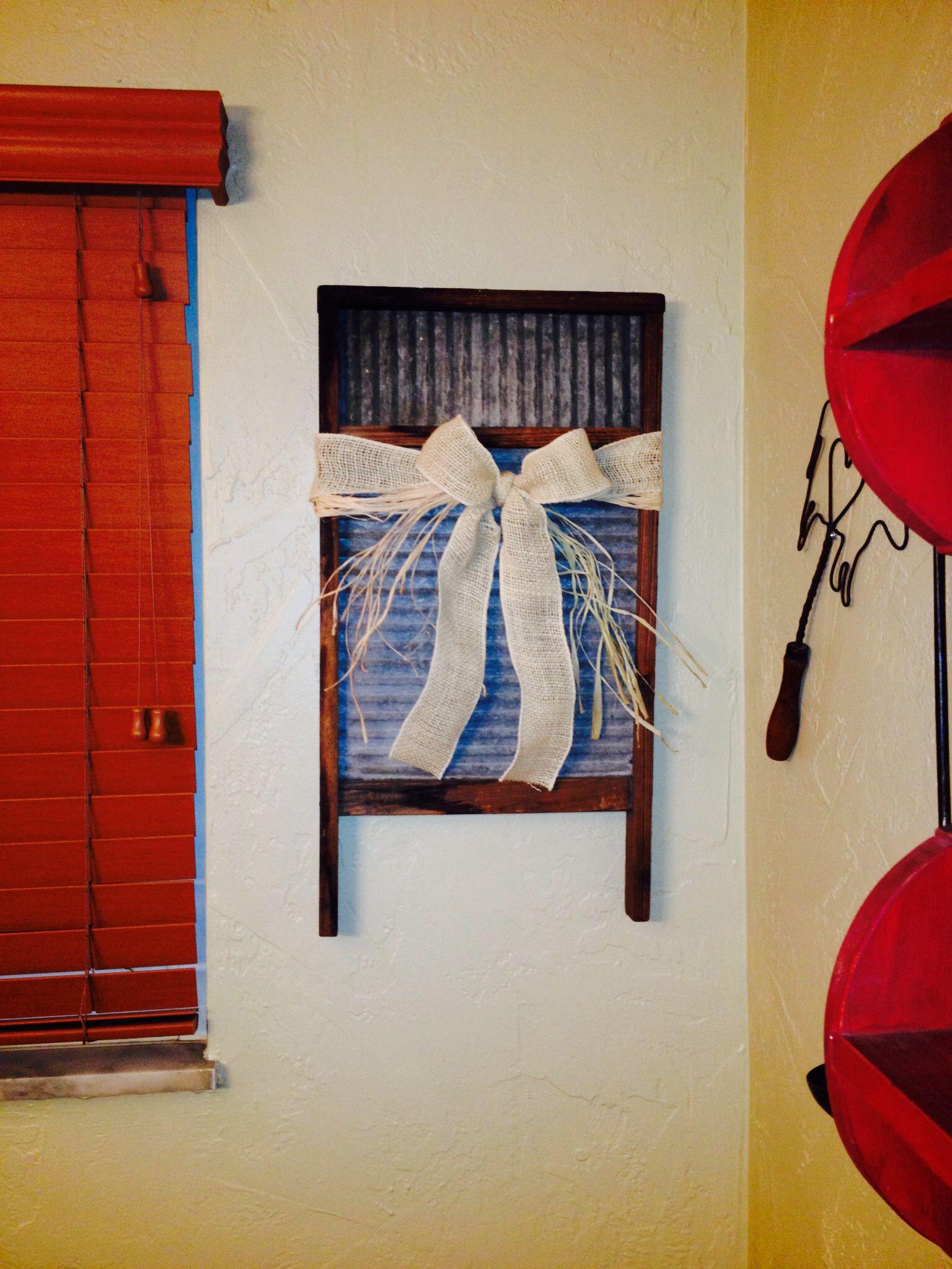 Country decor - wash board