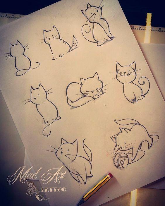 Katzen #cattattoo #catsketch #lovecat #drawing #drawingtattoo tattoo Halloween Art #katzen