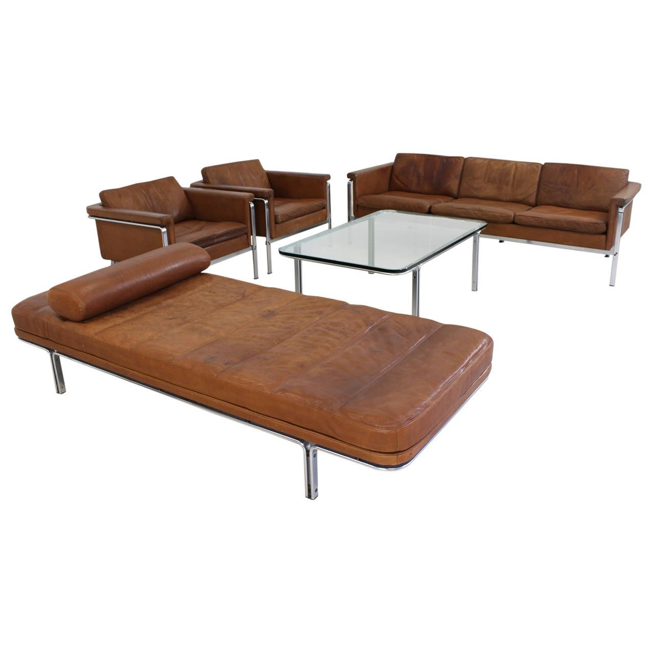 Superb Cognac Leather Living Room Set by Horst Bruning for Kill ...