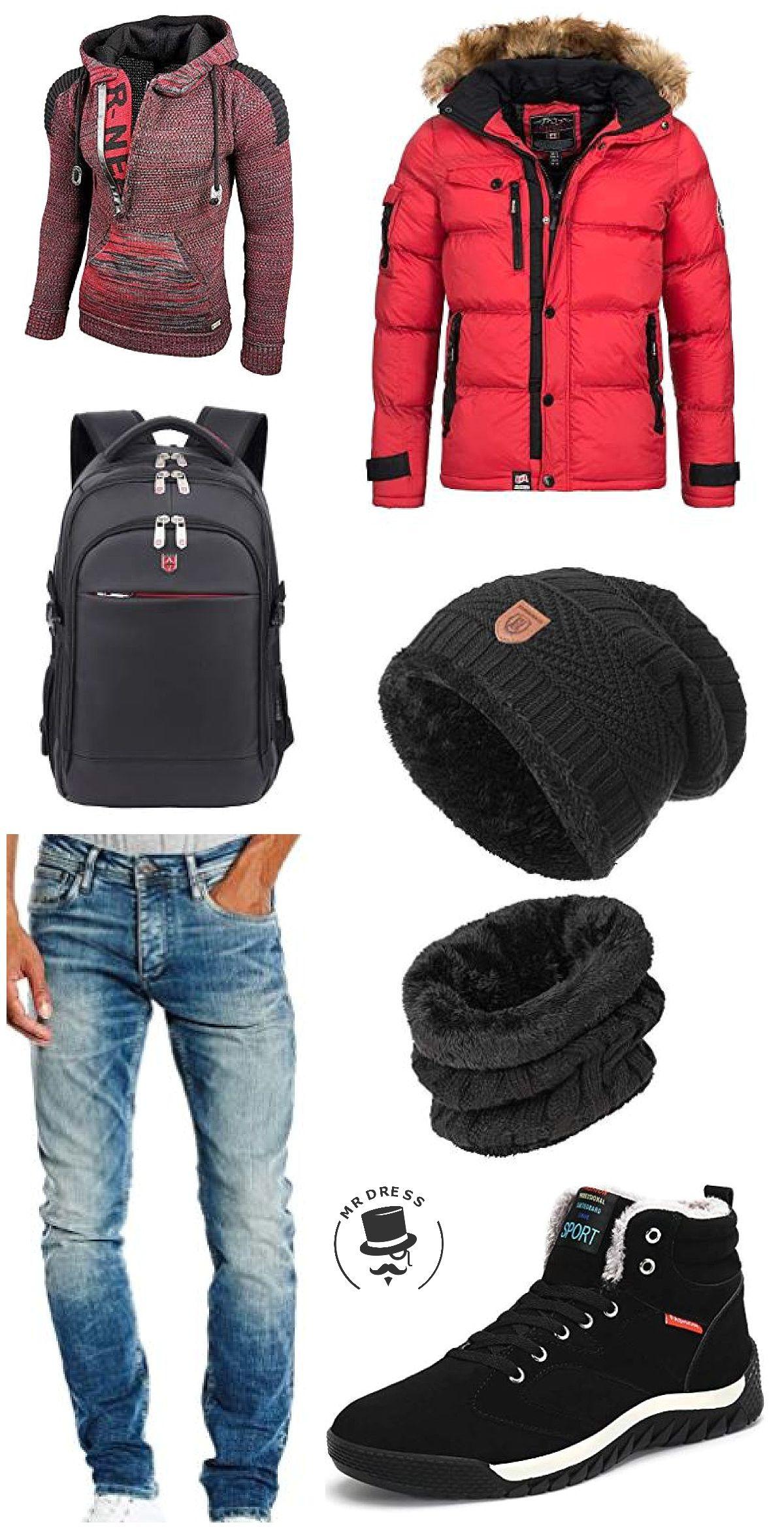 top brands autumn shoes dirt cheap Winteroutfit mit cooler Jacke in Rot! Anapurna Herren ...