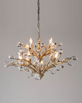 Budding crystal 10 light chandelier