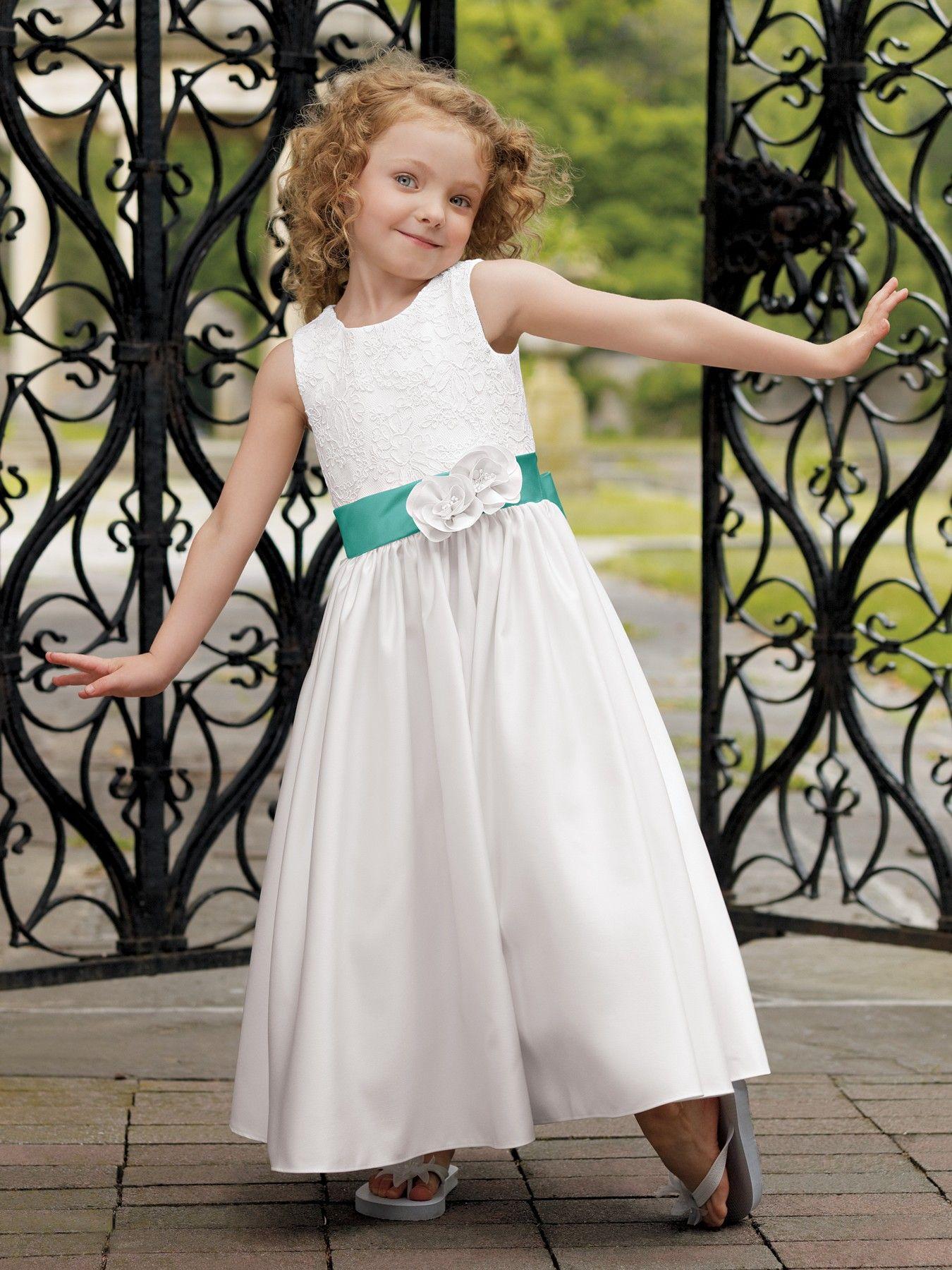 Cute anklelength aline flower girl dress allyce u dan