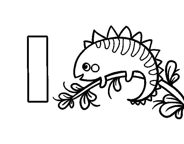Dibujo del Abecedario - Letra I para colorear | Dibujos del ...
