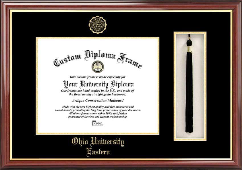 Ohio University Eastern Diploma Frame Embossed Seal Tassel Box Mahogany Diploma Frame University Diploma College Diploma