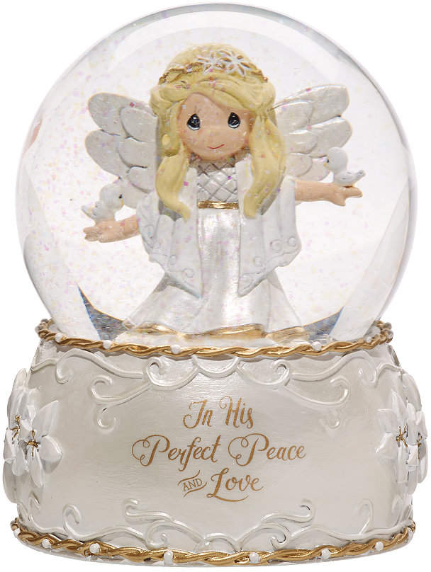 Precious Moments His Perfect Peace 7th in Annual Angel Series Musical Snow  Globe 52a68198c148