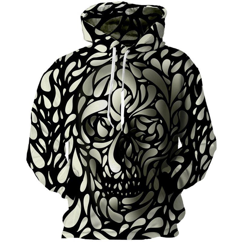 Cloudstyle New Skulls 3D Spot Skull Print Longsleeve Sweatshirts   Price    37.95   FREE 77de30c6045