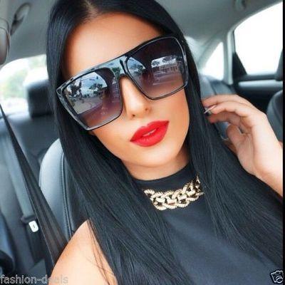 83b686c7e8 Flat top huge big oversized xxl square women sunglasses lauren style Amrezy  Brooklyn makeup Sunglasses Women Designer Celine Dior Oversized Chic Fashion  ...