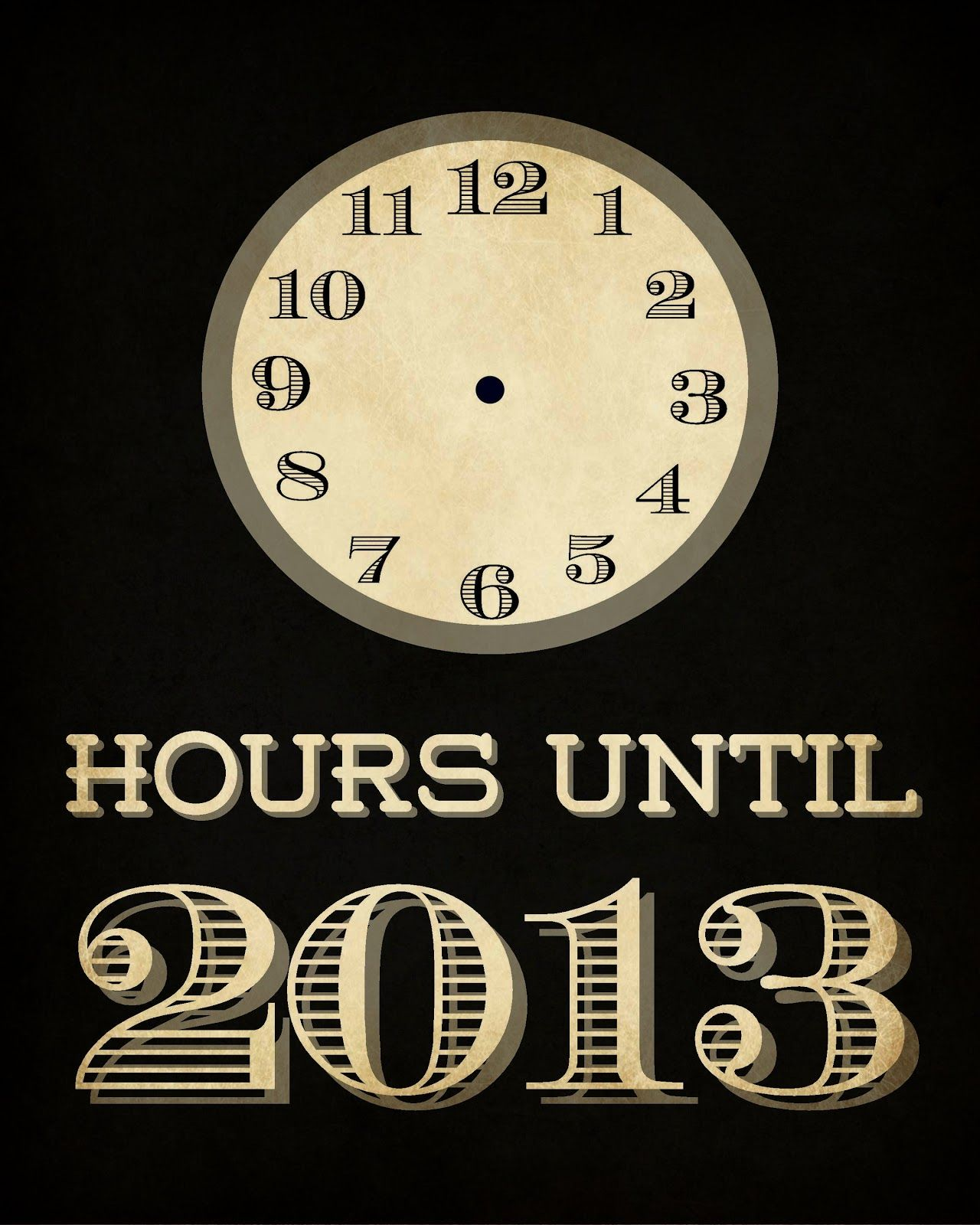 New Year Hour Countdown Newyear