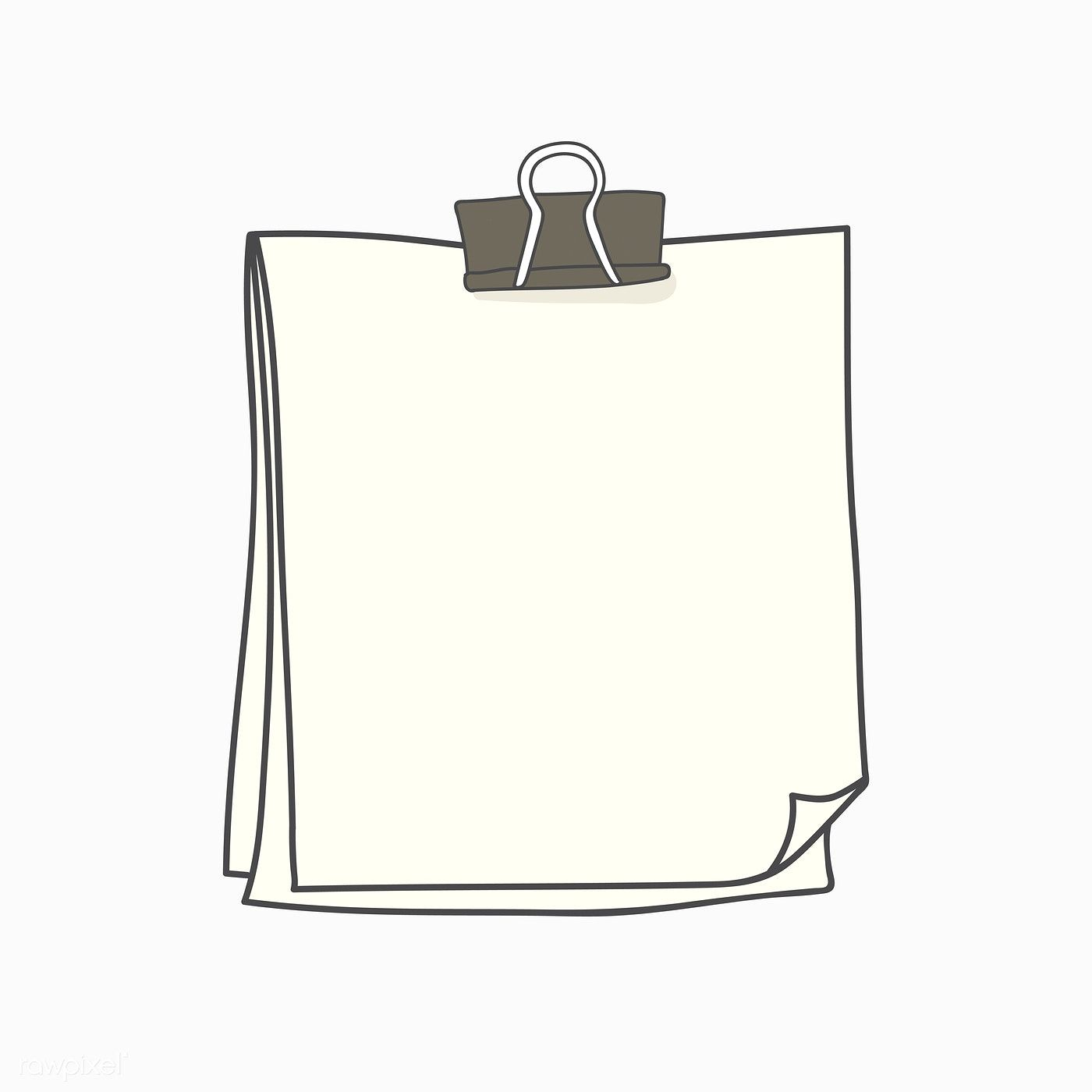 Download premium vector of Blank white note paper with